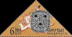 [Winter Olympic Games - Grenoble, France - Stamps of 1966 Overprinted, Double or Single Olympic Rings, Same Price, Typ CL3]