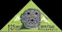 [Winter Olympic Games - Grenoble, France - Stamps of 1966 Overprinted, Double or Single Olympic Rings, Same Price, Typ CM3]