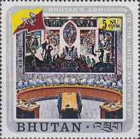 [Airmail - Inclusion of Bhutan in the United Nations, Typ RB]