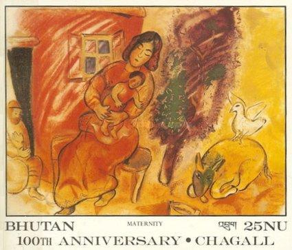 [The 100th Anniversary of the Birth of Marc Chagall, 1887-1985, Typ XMB]