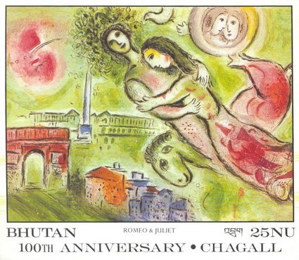 [The 100th Anniversary of the Birth of Marc Chagall, 1887-1985, Typ XMI]