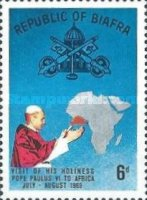 [First Visit of Pope to Africa, type S]