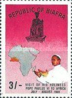 [First Visit of Pope to Africa, type U]