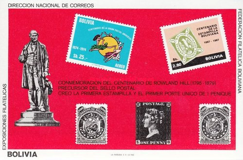 [Airmail - The 100th Anniversary of the Death of Rowland Hill, Typ ]