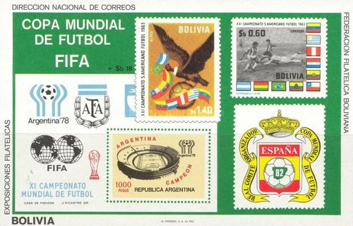 [Airmail - Football World Cup - Argentina '78 & Spain '82, type ]