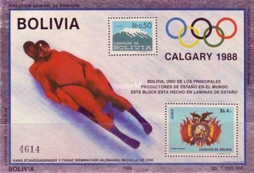 [Winter Olympic Games - Calgary, Canada. Tinfoil Stamps, type ]