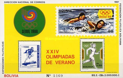 [Airmail - Olympic Games - Seoul '88, South Korea, type ]