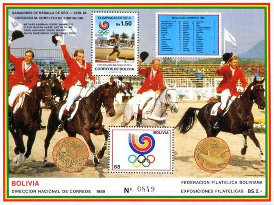 [Olympic Games - Seoul '88, South Korea. Gold Medal German Military Team, type ]