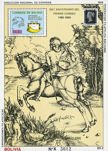 [The 500th Anniversary of Postal Connections in Europa, Typ ]