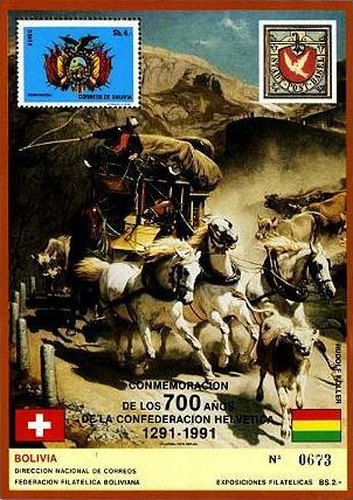 [The 700th Anniversary of the Swiss Confederacy, type ]