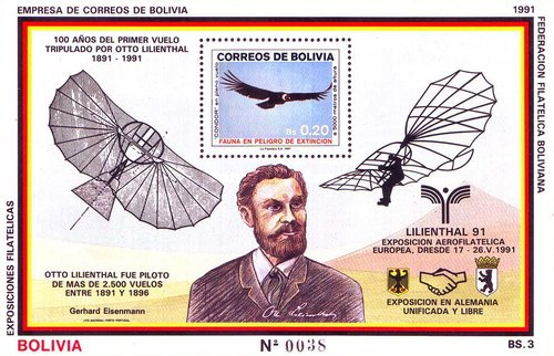 [The 100th Anniversary of the First Flight of Otto Lilienthal - European Airmail Exhibition