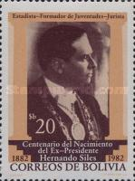 [The 100th Anniversary of the Birth of Hernando Siles, Former President, Typ AAG]