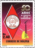 [The 50th Anniversary of the Bolivian Radio Club, type AIH]
