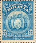 """[Coat of Arms - Dot After """"BOLIVIA"""" in Oval, type AU5]"""