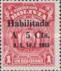"""[Surcharged & Overprinted """"Habilitada D. S. 13-7-1933"""", type AU53]"""