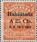 """[Surcharged & Overprinted """"Habilitada D. S. 13-7-1933"""", type AU55]"""