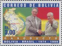 [Inauguration of Gas Pipeline from Santa Cruz, Bolivia, to Campinas, Brazil, Typ AVM]