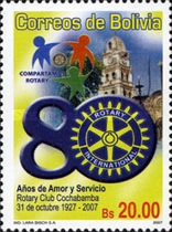 [The 80th Anniversary of the Rotary Club Cochabama, Typ BKY]