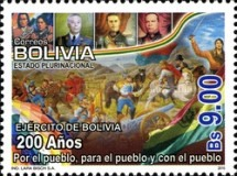 [The 200th Anniversary of the Army of Bolivia, Typ BNL]