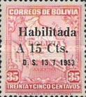 """[Surcharged & Overprinted """"Habilitada D. S. 13-7-1933"""", type BR3]"""