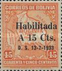 """[Surcharged & Overprinted """"Habilitada D. S. 13-7-1933"""", type BR4]"""