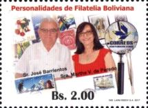 [Personalities of Bolivian Philately, Typ BVR]