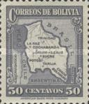 [Map of Bolivia, type BY11]
