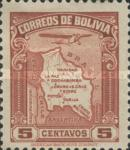 [Airmail - Map of Bolivia with Airplane, type BZ]