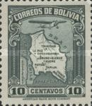 [Airmail - Map of Bolivia with Airplane, type BZ1]