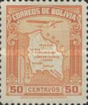 [Airmail - Map of Bolivia with Airplane, type BZ4]