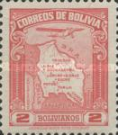 [Airmail - Map of Bolivia with Airplane, type BZ7]