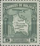 [Airmail - Map of Bolivia with Airplane, type BZ8]