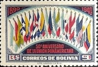 [The 50th Anniversary of the Pan-American Union, type DI]