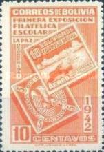 [The First Students' Philatelic Exhibition, La Paz, type DR1]