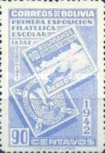 [The First Students' Philatelic Exhibition, La Paz, type DR4]
