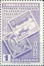 [The First Students' Philatelic Exhibition, La Paz, type DR5]