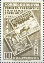 [The First Students' Philatelic Exhibition, La Paz, type DR6]