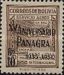 """[Airmail Stamps - Surcharged """"XV ANIVERSARIO - PANAGRA - 1935-1950"""" and value, type EK6]"""