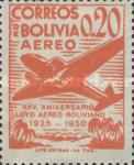 [Airmail Stamps - The 25th Anniversary of the Lloyd Aereo Boliviano, type FM]