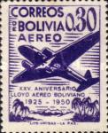 [Airmail Stamps - The 25th Anniversary of the Lloyd Aereo Boliviano, type FM1]