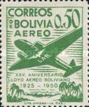 [Airmail Stamps - The 25th Anniversary of the Lloyd Aereo Boliviano, type FM2]