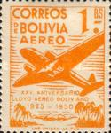 [Airmail Stamps - The 25th Anniversary of the Lloyd Aereo Boliviano, type FM3]