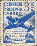 [Airmail Stamps - The 25th Anniversary of the Lloyd Aereo Boliviano, type FM4]