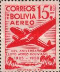 [Airmail Stamps - The 25th Anniversary of the Lloyd Aereo Boliviano, type FM5]