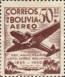 [Airmail Stamps - The 25th Anniversary of the Lloyd Aereo Boliviano, type FM6]