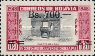 [Airmail - Currency Revaluation - Founding of La Paz stamps of 1951 Surcharged, Typ FN3]