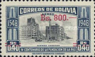 [Airmail - Currency Revaluation - Founding of La Paz stamps of 1951 Surcharged, Typ FP3]