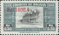 [Airmail - Currency Revaluation - Founding of La Paz stamps of 1951 Surcharged, Typ FR3]