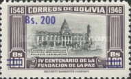 [Currency Revaluation - Founding of La Paz stamps of 1951 Surcharged, Typ FS2]