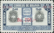 [Airmail - Currency Revaluation - Founding of La Paz stamps of 1951 Surcharged, Typ FU3]